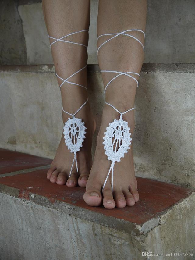 pics of sexy feet product aed white store wedding albu barefoot leaves crochet sandals rbvaglwdml naaugyeurkvm