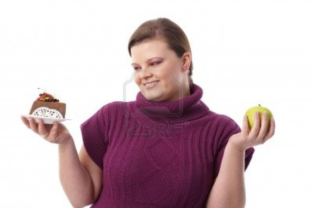 plump woman pics photo woman chocolate plump green apple smiling between cake nyul hesitating