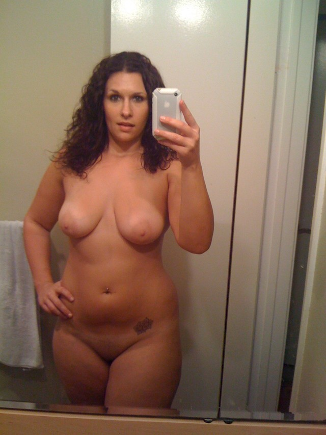 Nude brunette with big tits agree