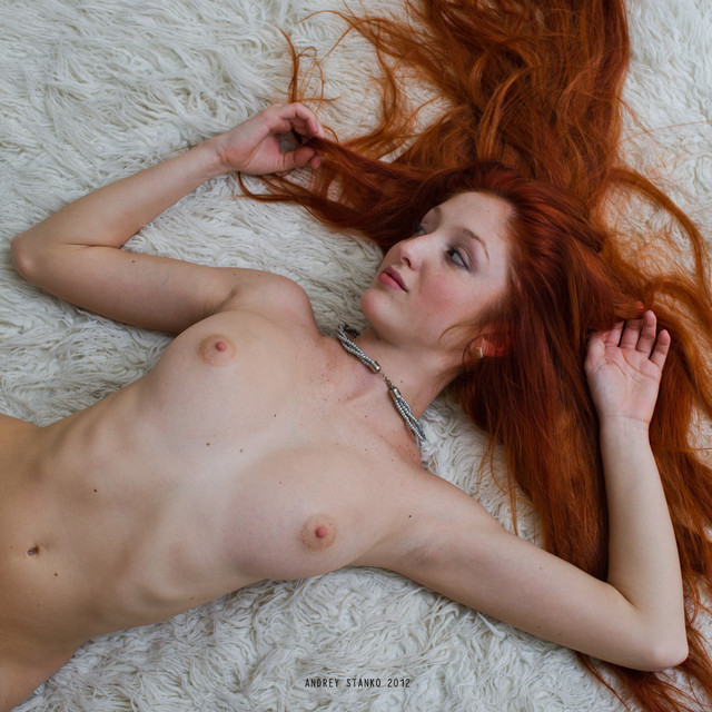 red head nude redhead nude cutie down laying