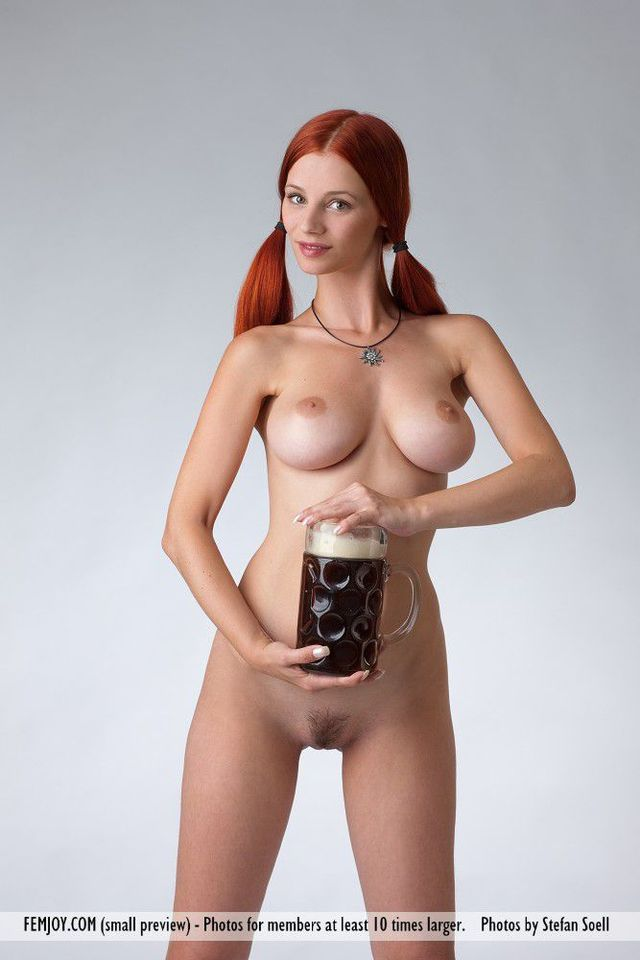redhead nude pics pics busty redhead nude picpost thmbs pigtails holding beer