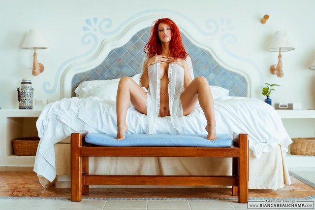 redheads porn galleries porn gallery star pornstar showing shaved pussy sexy redhead naked gorgeous bed bianca beauchamp assno