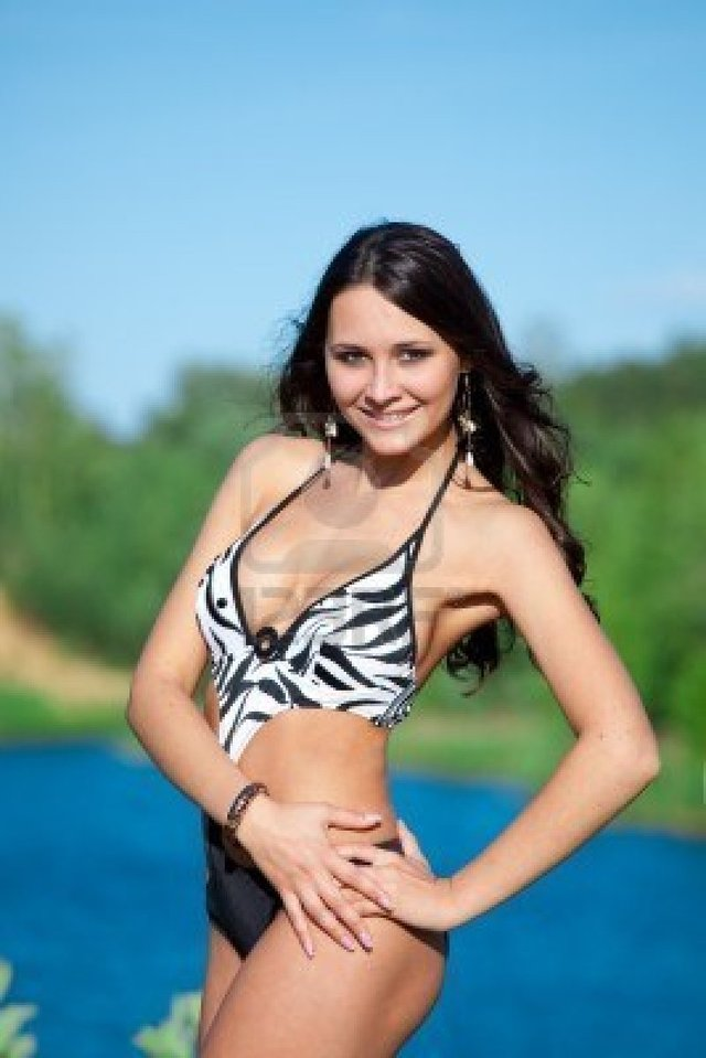 sexy brunette images photo sexy brunette body perfect outdoor lake doctorkan