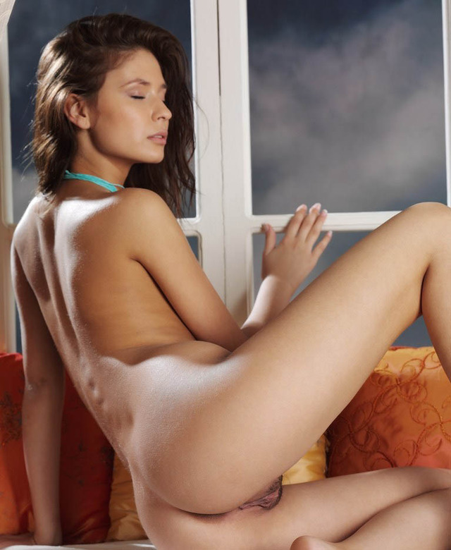 sexy nude brunettes original nude brunette takes position sweety ecstatic