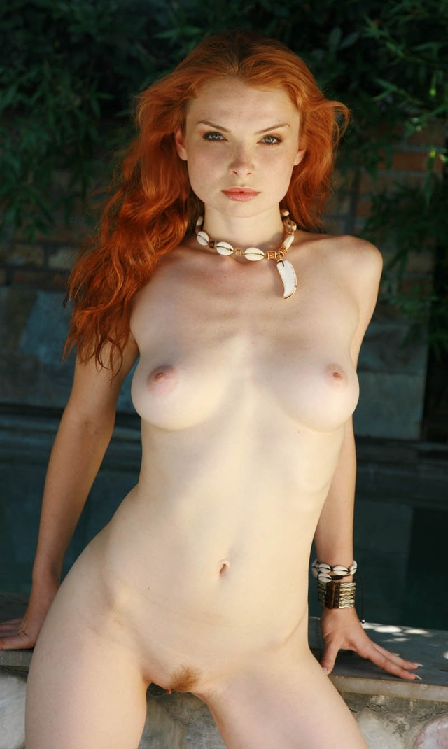 Horny and naked sexy redheads