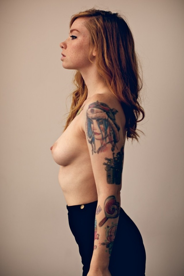 sexy porn tattoo girls sexy redhead women nude naked tattoo freckles hipster