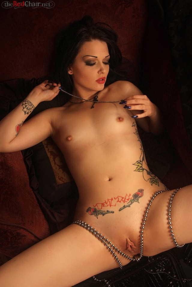 sexy porn tattoo naked model tattooed cece larue