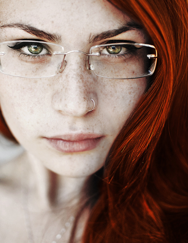 sexy red head girl pics glasses meh