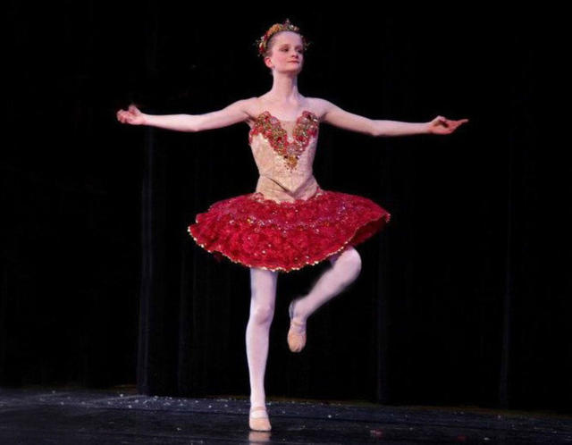 solo girl young girl large solo public styles stage dancer prince autism suite wnpr nutcracker milfords adaptive