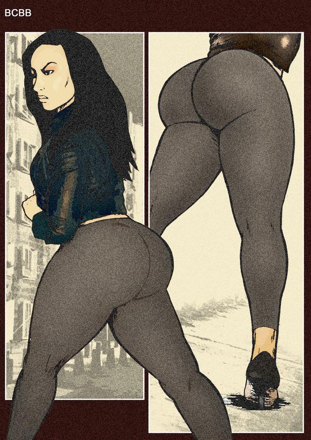 Big black cartoon ass