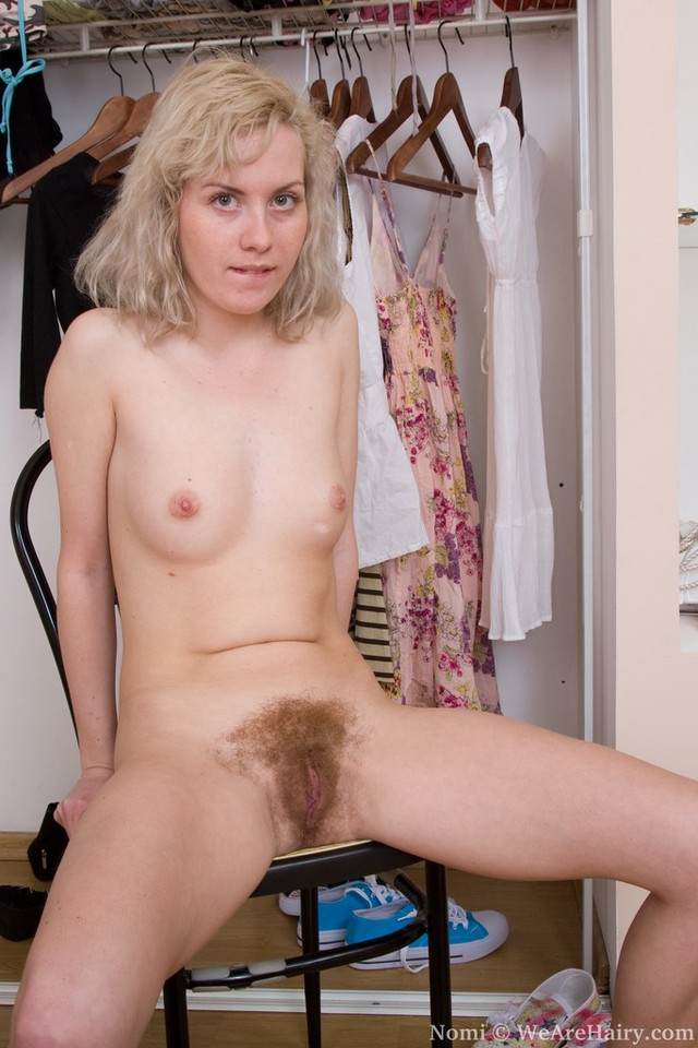 Blondes with very hairy pussies