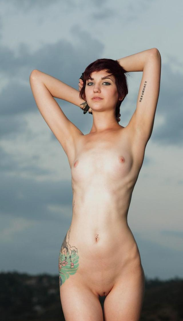 Skinny Teen Naked Tattoo Girl