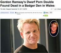 porn photo gordon ramsays dwarf porn double found dead badger den picture