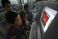 online porn game data children play online games internet cafe xiangfan china continued intensify campaign against porn
