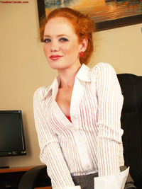 red head porn sets naughty secretary heather open jam going get drunk masturbate redhead porn