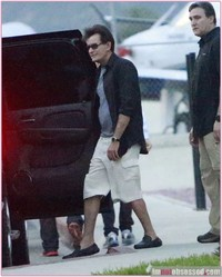 poet and porn star charlie sheen moves porn star girlfriend exclusive arrives cabo