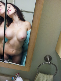 amateur big nipples pics amateur babe flashes huge tits mirror self shot boobs