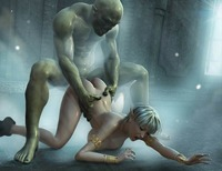 3d monster pics porn monster horny girl tortured fucked monsters