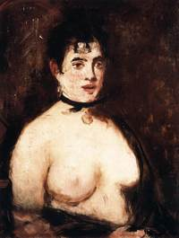 bare breasts pics art manet