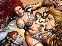 bare breasts pics red sonja attacks voluptious lovely bare breasts jiggling
