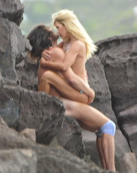 beach sex pics unbelievable shauna sand was caught having beach barts category celebrity scene