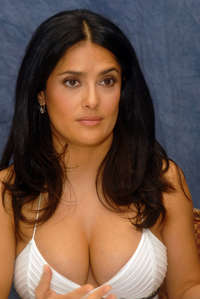 beautiful big breast image salma hayek white dress sexy breasts best celebrity body parts