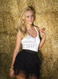 beautiful sex images nicku beautiful young blonde near straw bales wall photo