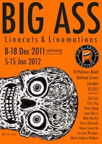 big ass big pic ass linocut exhibition high roller society london