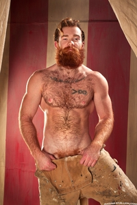 big dick porn pictures james jamesson red hair ginger gay porn star beard cock doodle