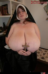big tits bbw pictures wmimg busty holy nun bbw huge tits solo anorei collins cross legends