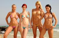 bikini girl naked these girls probably have smallest bikinis world they look fantastic