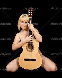 black naked girl pictures depositphotos girl acoustic guitar stock photo