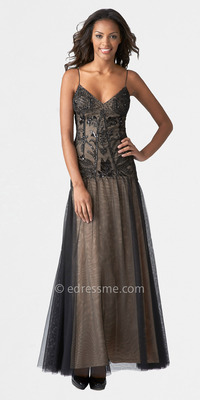 black nude pic media catalog product black nude beaded lace evening dresses aidan mattox feze