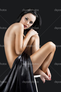black sexy naked women depositphotos nude cute sexy woman over black hand knee stock photo
