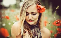 blond girl gallery blonde girl poppy flower wallpapers