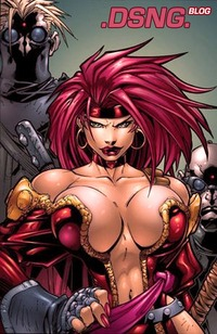 boobs and tits image red monika battle chasers joe mad thick sexy female comic character superhero redhead head huge boobs breasts tits pirate costume forums threads woman kills boyfriend