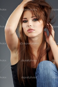 brunette woman pics depositphotos young brunette woman beauty portrait studio shot stock photo