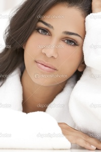 brunette woman pics depositphotos healthy beautiful brunette woman spa robe stock photo