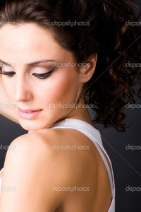 brunette woman pics depositphotos young brunette woman portrait stock photo