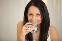 brunette woman pics auremar brunette woman drinking water photo