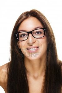 brunette woman pics robstark happy beautiful brunette woman wearing black glasses white background photo