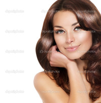 brunette woman pics depositphotos beautiful brunette woman portrait healthy hair stock photo