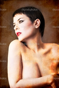 brunette woman pics depositphotos seminude beautiful short haired brunette woman androgine stock photo