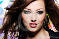 brunette woman pics expressive look beautiful brunette woman stock photos