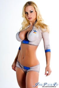 busty girl big boobs blue eyes boobs blonde hot lips body paint painted bigtits girls