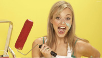 celebrities naughty pics fearne cotton open mouth naughty pose yellow background