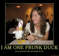 drunk fuck pic org demotivational poster one frunk duck drunk fuck