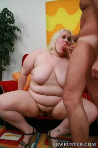 fat bbw huge blonde bbw tina rose showing off huge folds fat getting cock rammed doggy style