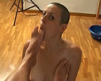 foot sucking pics bald chick foot fetish toe sucking