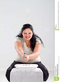 free fat woman pics fat woman hitting scale hammer royalty free stock